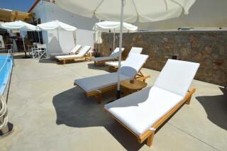 agistri holidays pool sunbeds