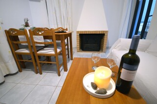 deluxe sea view apartment agistri holidays fireplace