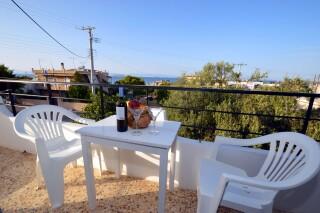 partial sea view room agistri holidays veranda