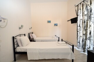 standard double room agistri holidays beds