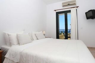 superior sea view apartment agistri holidays bedroom