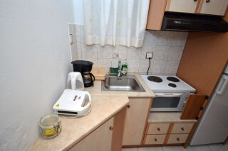 superior sea view apartment agistri holidays kitchen